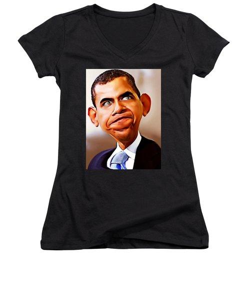 Mr. President Women's V-Neck