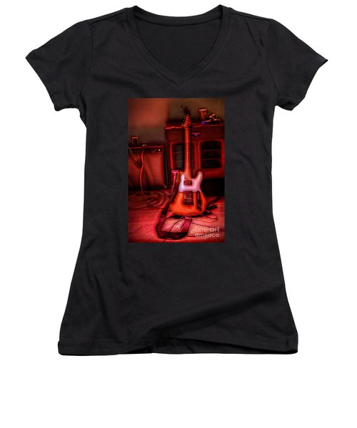 Mr. Scratch's Axe Women's V-Neck (Athletic Fit)