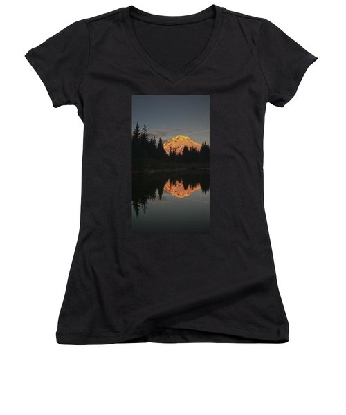 Mt Hood Alpenglow II Women's V-Neck T-Shirt