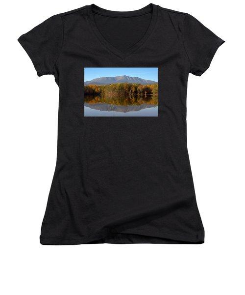 Mt Katahdin Baxter State Park Fall 1 Women's V-Neck T-Shirt