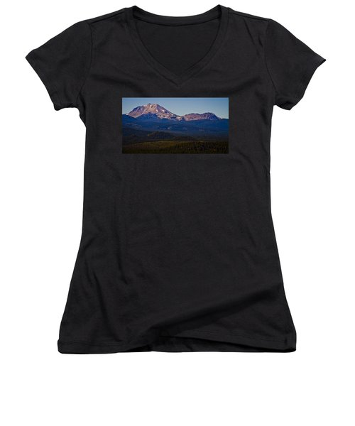 Mt Lassen And Chaos Crags Women's V-Neck