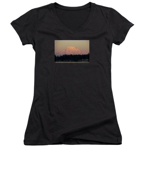 Mt Rainier Alpine Glow II Women's V-Neck T-Shirt