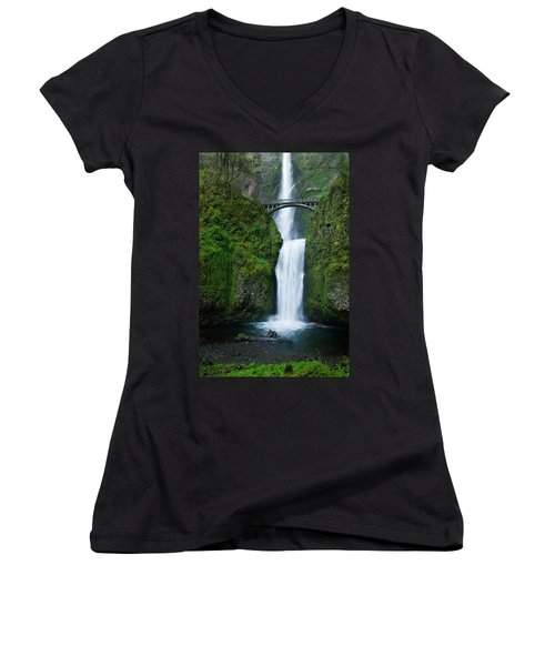 Multnomah Falls Women's V-Neck