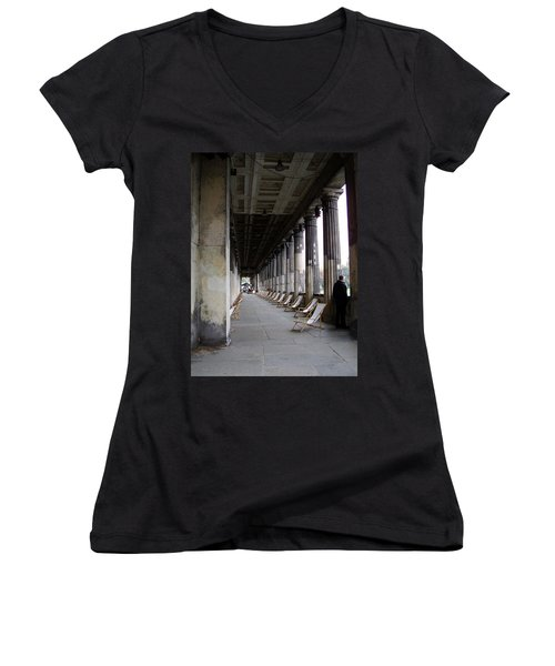 Museumsinsel Women's V-Neck T-Shirt (Junior Cut) by Flavia Westerwelle