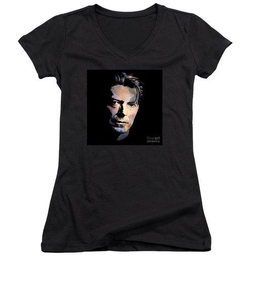 Music Legend. Women's V-Neck T-Shirt (Junior Cut) by Andrzej Szczerski