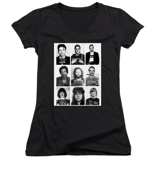Musical Mug Shots Three Legends Very Large Original Photo 9 Women's V-Neck