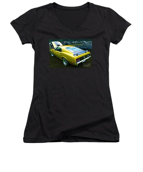 Mustang Boss 302 Women's V-Neck T-Shirt