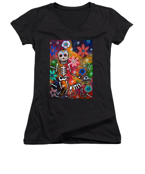 My Bestfriend Women's V-Neck T-Shirt (Junior Cut)
