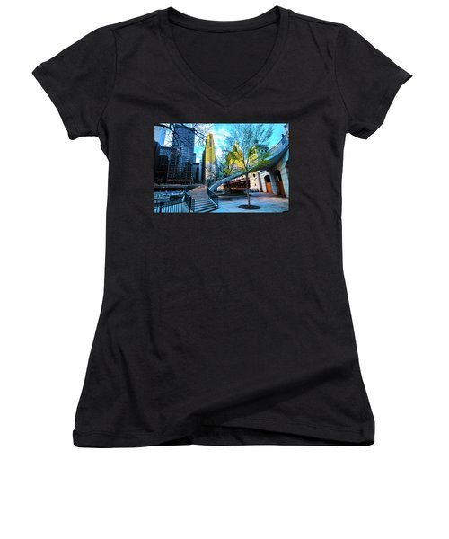 My Blue Chi Women's V-Neck (Athletic Fit)