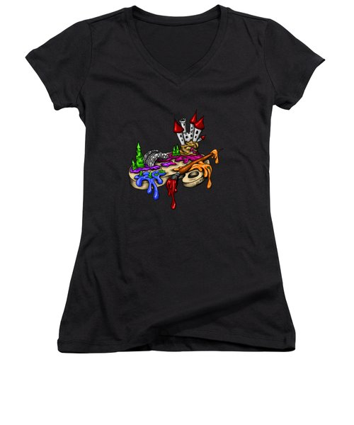My Color Palette Women's V-Neck T-Shirt (Junior Cut) by Alexandra Franzese