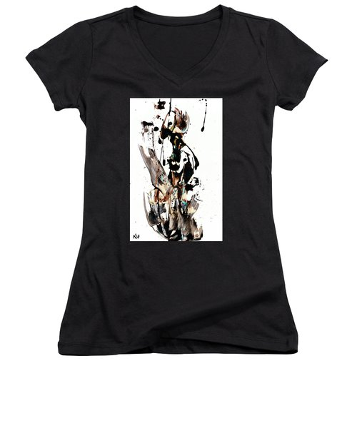 My Form Of Jazz Series 10062.102909 Women's V-Neck T-Shirt