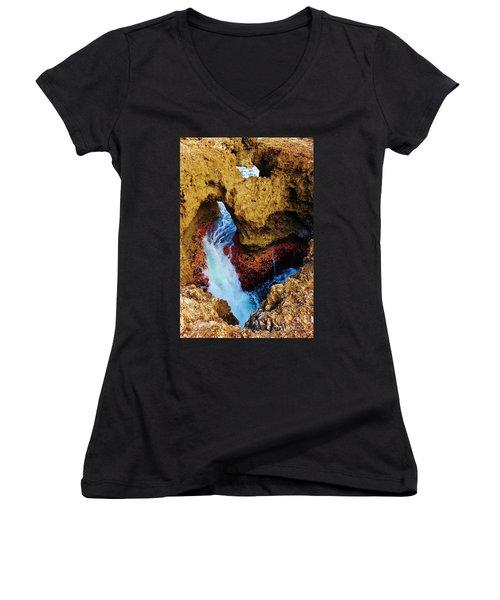 My Heart Between Sea And Shore Women's V-Neck T-Shirt (Junior Cut) by Craig Wood