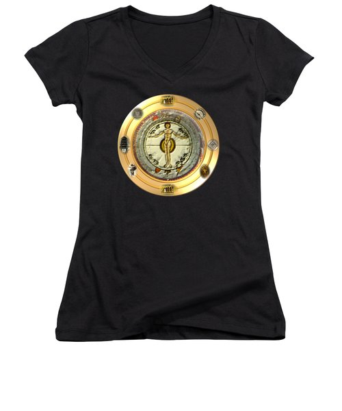 Mysteries Of The Ancient World By Pierre Blanchard Women's V-Neck T-Shirt
