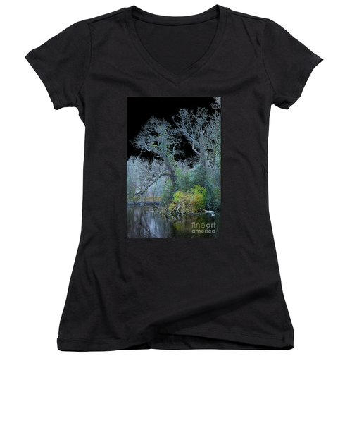 Mystical Wintertree Women's V-Neck T-Shirt