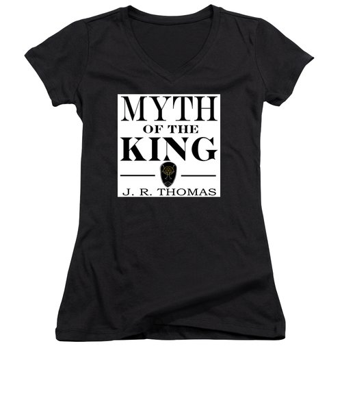 Women's V-Neck featuring the digital art Myth Of The King Cover by Jayvon Thomas