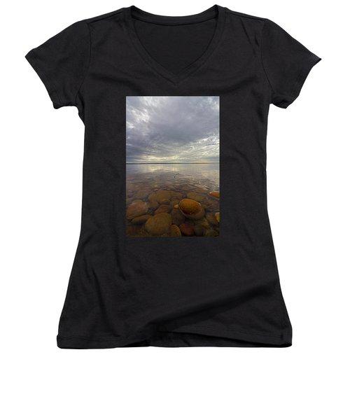 Napeague Bay Red Rocks Women's V-Neck T-Shirt