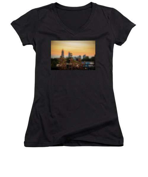 Nature In The City Women's V-Neck