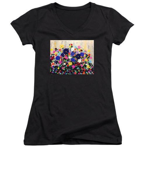 Natures Bouquet  Women's V-Neck T-Shirt