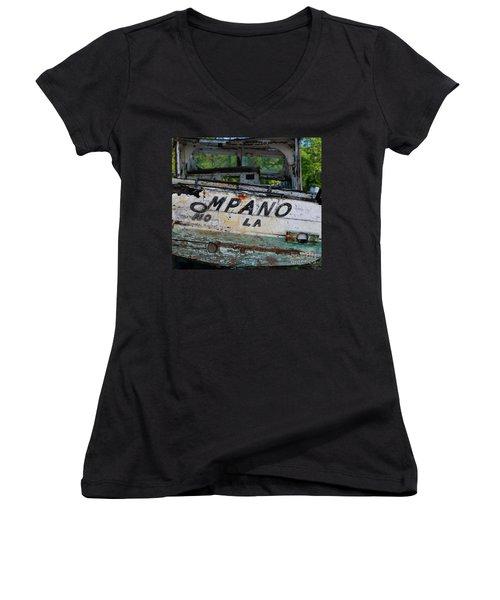 Nautical Miles Women's V-Neck T-Shirt (Junior Cut) by Lori Mellen-Pagliaro