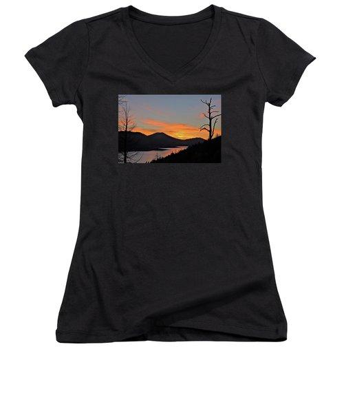 Navaho Lake Women's V-Neck T-Shirt