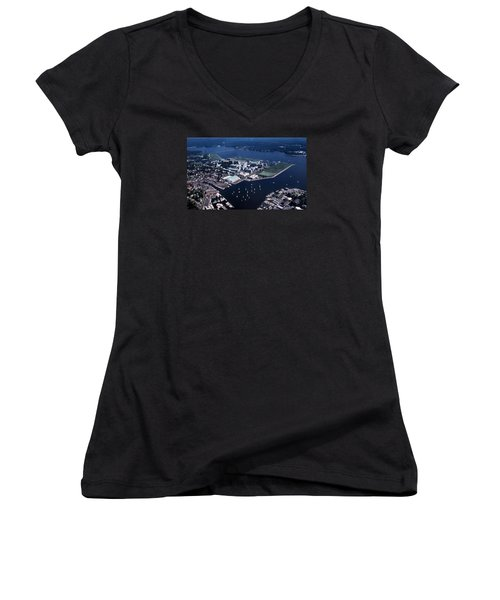Naval Academy Women's V-Neck T-Shirt (Junior Cut) by Skip Willits