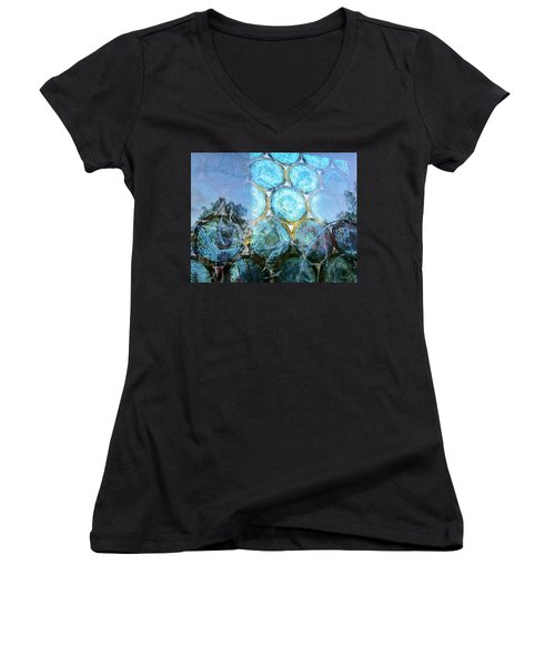 Neat In Blue Women's V-Neck T-Shirt