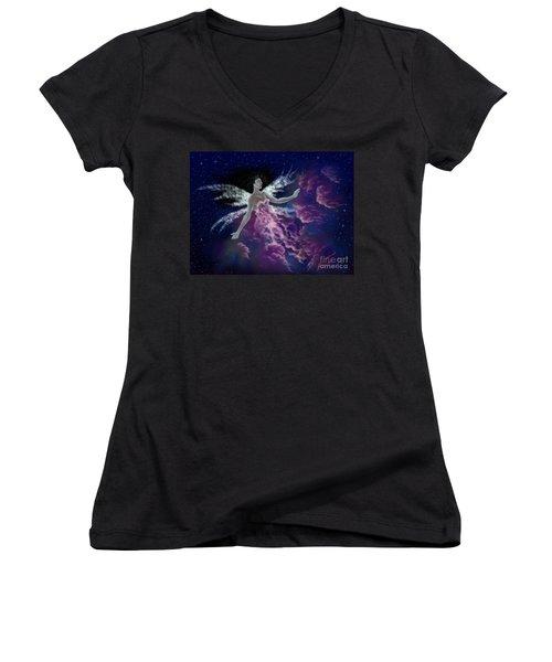 Nebula Women's V-Neck T-Shirt