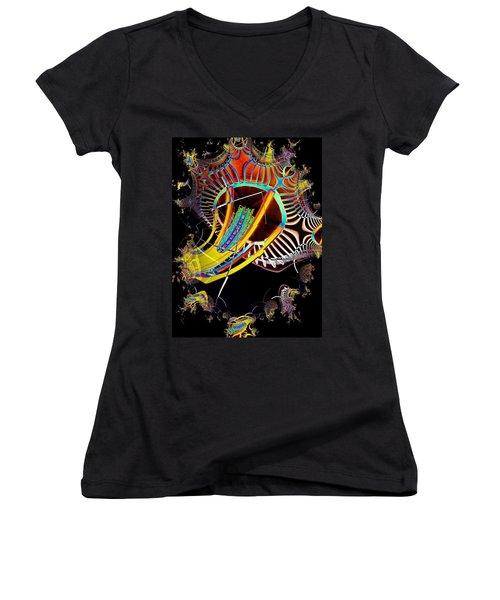 Needle In Fractal 2 Women's V-Neck T-Shirt