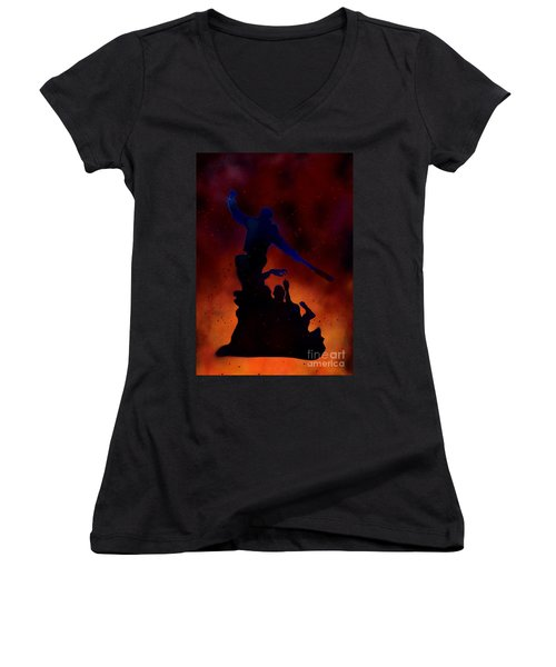 Negan Inferno Women's V-Neck T-Shirt