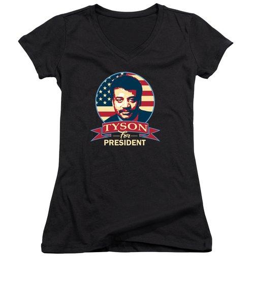 Neil Degrasse Tyson For President Women's V-Neck