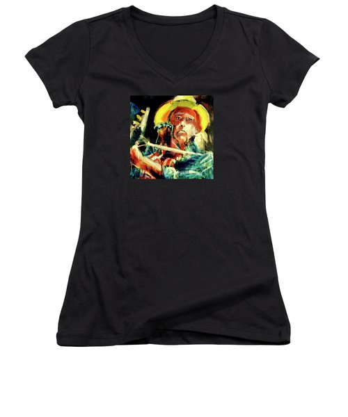 Neil Young Women's V-Neck T-Shirt
