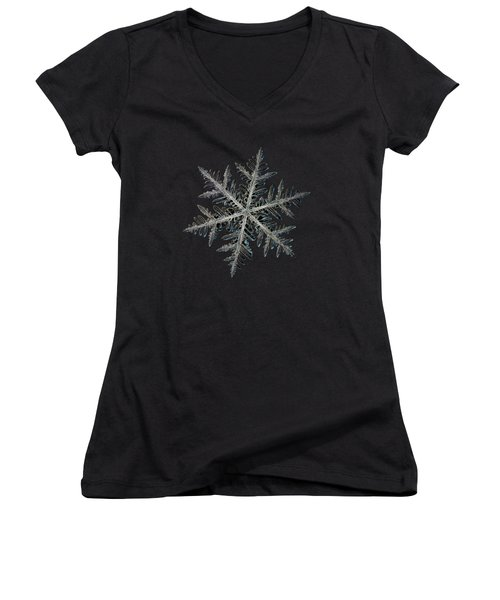 Neon, Black Version Women's V-Neck T-Shirt (Junior Cut) by Alexey Kljatov