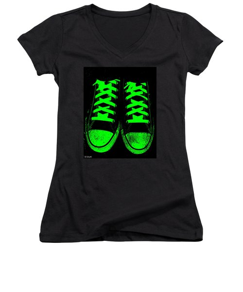 Neon Nights Women's V-Neck T-Shirt