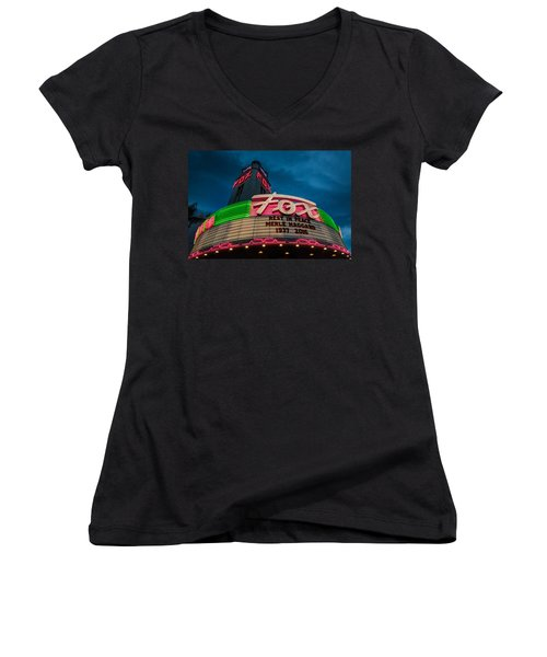 Neon Tribute Rip Merle Haggard Women's V-Neck T-Shirt