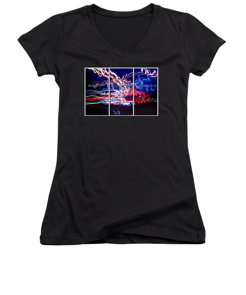 Neon Ufa Triptych Number 1 Women's V-Neck