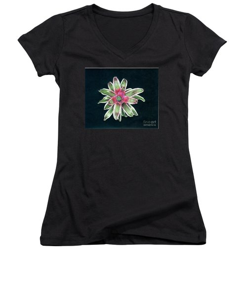 Neoregelia Terrie Bert Women's V-Neck (Athletic Fit)