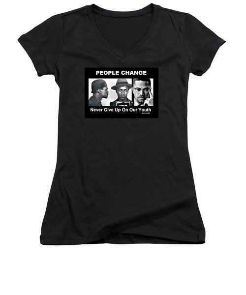Never Give Up On Our Youth Women's V-Neck