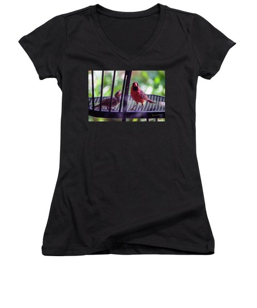 New Baby Cardinal Women's V-Neck