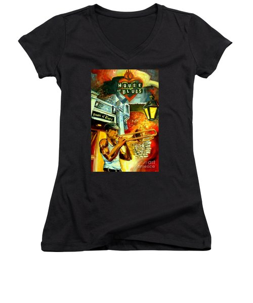 New Orleans' House Of Blues Women's V-Neck (Athletic Fit)