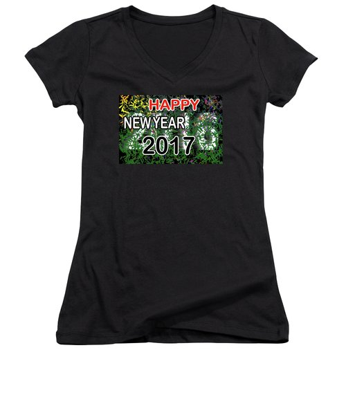 New Year Women's V-Neck T-Shirt