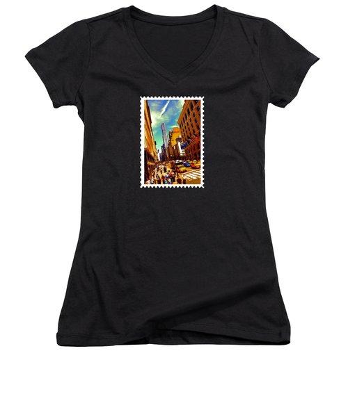 New York City Hustle Women's V-Neck T-Shirt