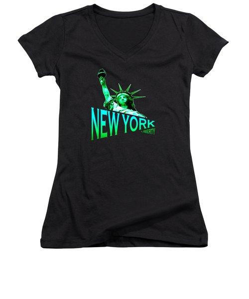 New York Liberty Design Women's V-Neck