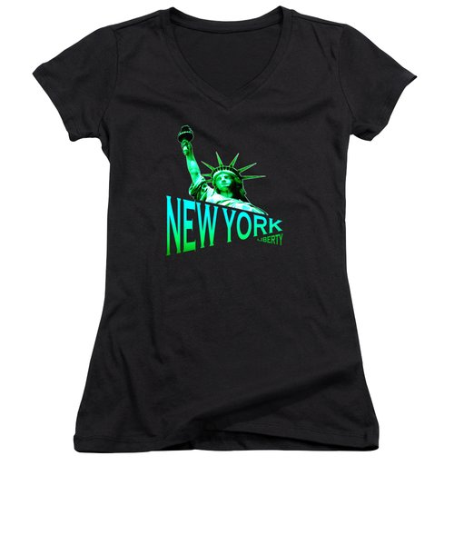 New York Liberty Design Women's V-Neck (Athletic Fit)