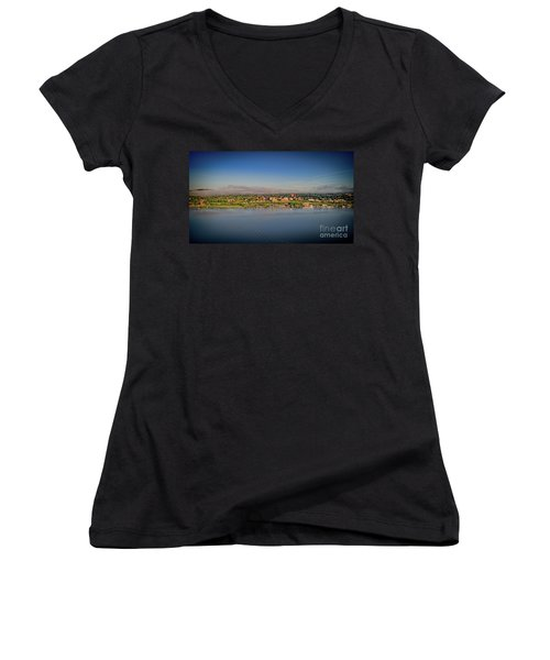 Newburgh, Ny From The Hudson River Women's V-Neck (Athletic Fit)