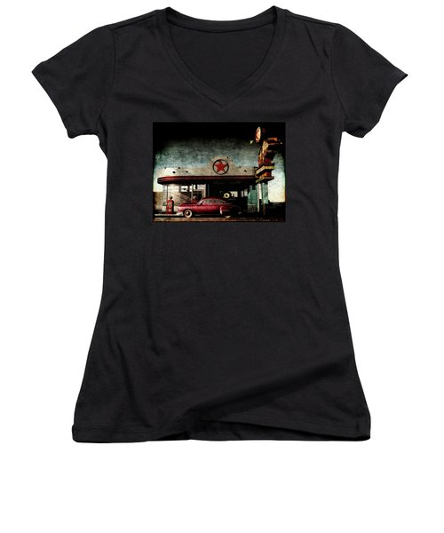 Next Service 100 Miles Women's V-Neck T-Shirt