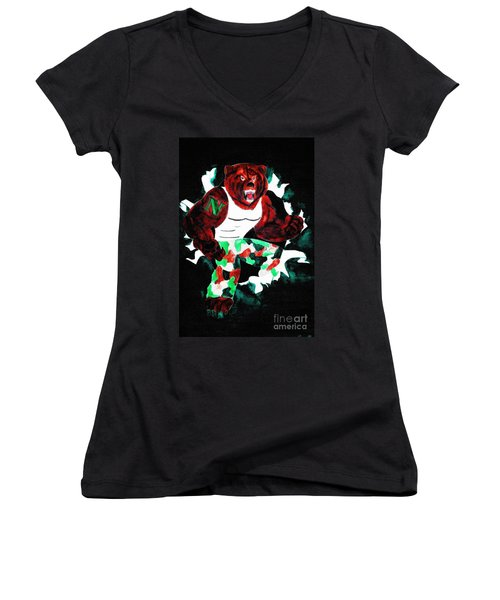 Nhs Bears In Color  Women's V-Neck T-Shirt