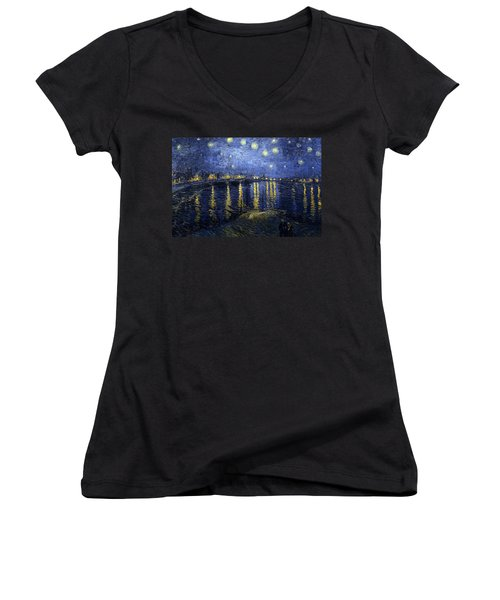 Night At The Lake Women's V-Neck (Athletic Fit)