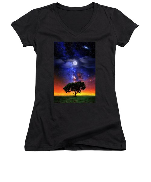 Night Colors Women's V-Neck