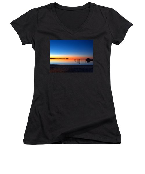 Night Fall Women's V-Neck