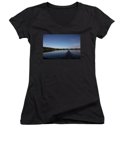 Night Fall Women's V-Neck (Athletic Fit)